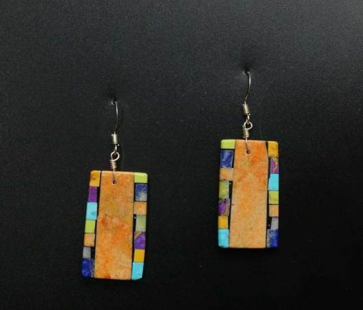 Mary Tafoya Mosaic Earrings