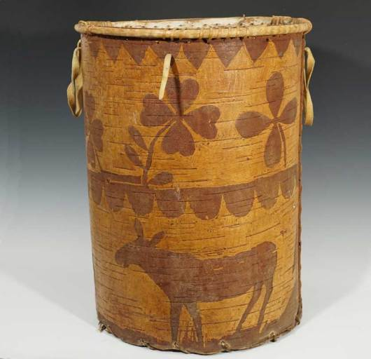Early 20th Century Birch Bark Container