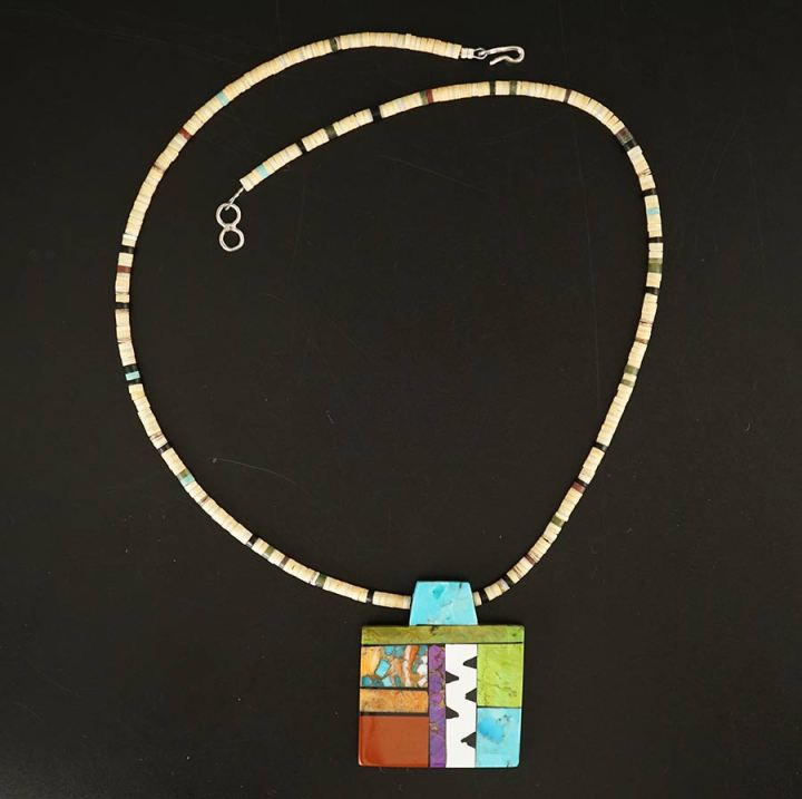 Mary Tafoya Mosaic Necklace 13
