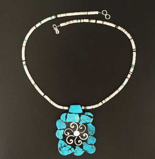 Mary Tafoya Turquoise Nugget Necklace
