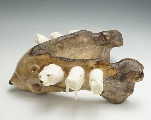 Sam Dimmick Bone Bear with Walrus Tusk Companions