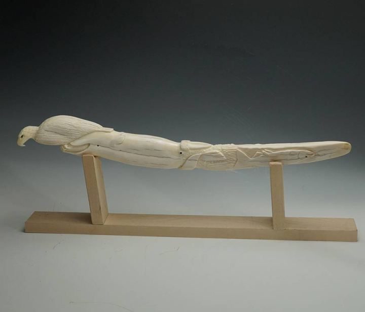 Sam Dimmick Carved Walrus Tusk