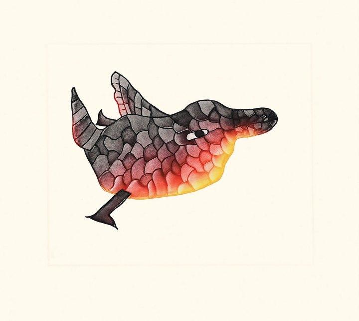 Malaija Pootoogook Mosaic Bird print