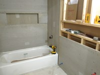 Drywall and Cement Board for the Downstairs Bathroom ...