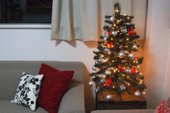 My Japanese Christmas Tree Decorated With Orizuru Paper Cranes Blog Homeandawaywithlisa