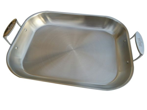 all clad xl flared roaster stainless second quality