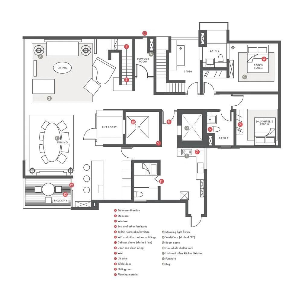 Kitchen Floor Plan Abbreviations