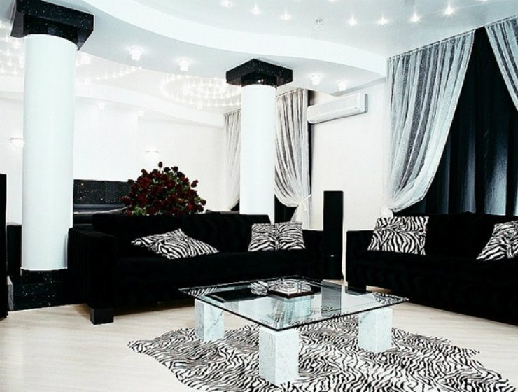 Black And Silver Living Room Inspirations  Home And