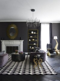 Living Room Design Ideas: Trendy and Mysterious Dark ...