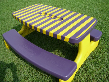 Paint A Plastic Picnic Table Home And Garden - Best paint for picnic table