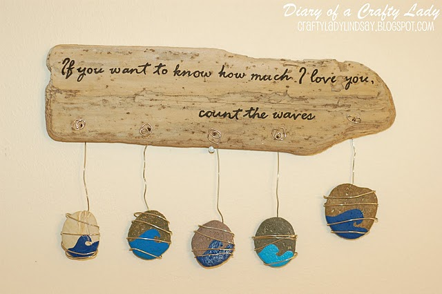 Drift wood plaque home and garden for How to make driftwood crafts