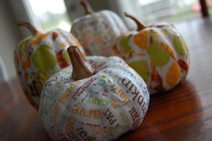 Mod Podge Pumpkins