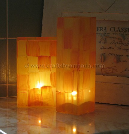 Patchwork Glass Vases
