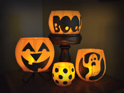 Pumpkin Votive Luminaries