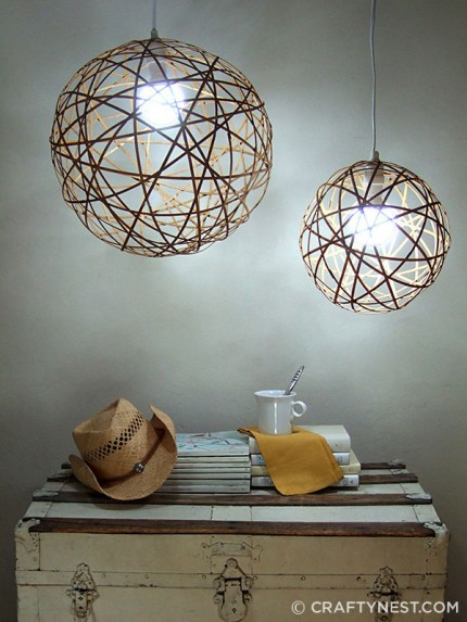 Bamboo Orb Pendant Lights