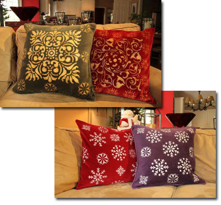 Make Holiday Pillow Covers
