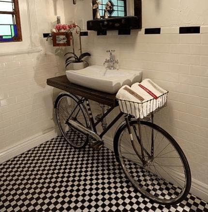 Bicycle Bathroom Vanity