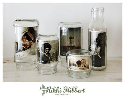 Glass Jar Photo Display