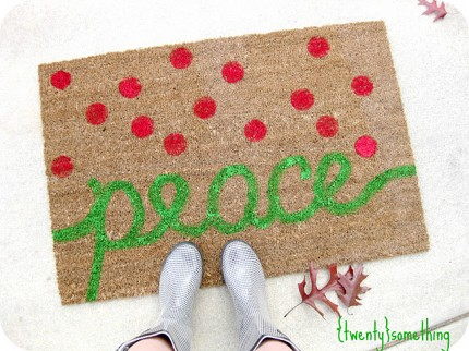 Holiday Painted Rug