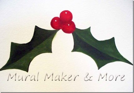 How to Paint Holly and Berries