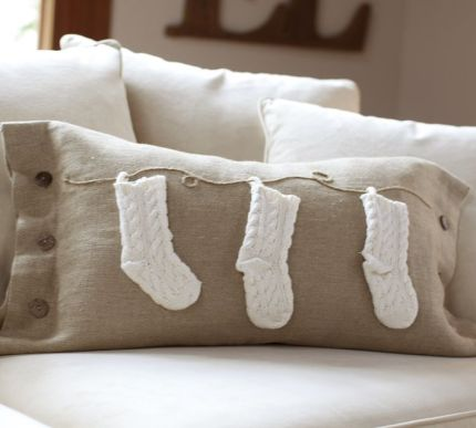 Pottery Barn Stocking Pillow