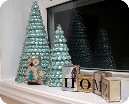 Glass Marble Christmas Trees