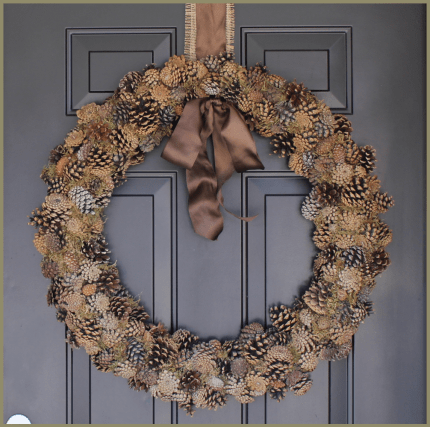 Moss and Pine Cone Wreath | Burlap & Denim