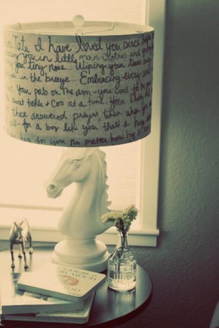 Love Letter Lamp Shade