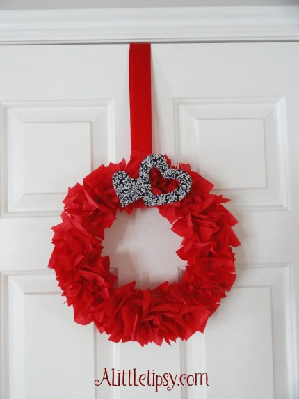 Red Heart Wreath