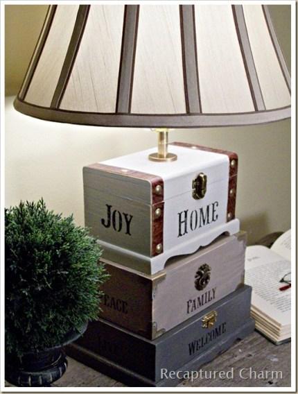 Dollar Store Trinket Box Lamp