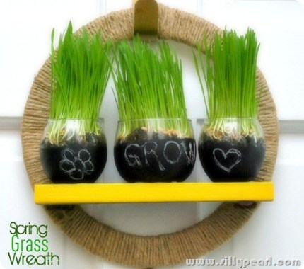 Spring Wheat Grass Wreath