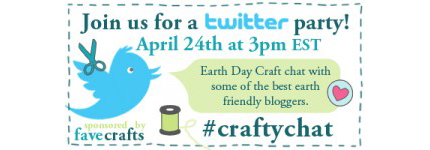 Green Crafting Twitter Party Today!