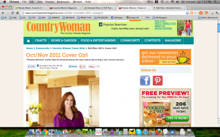 Ree Drummond, The Pioneer Woman, Country Woman Magazine
