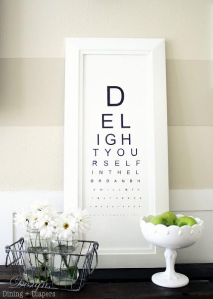 DIY Eye Chart