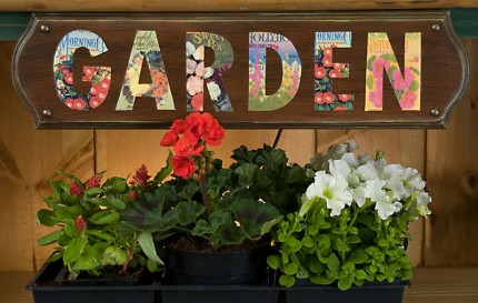 Seed Packet Garden Sign