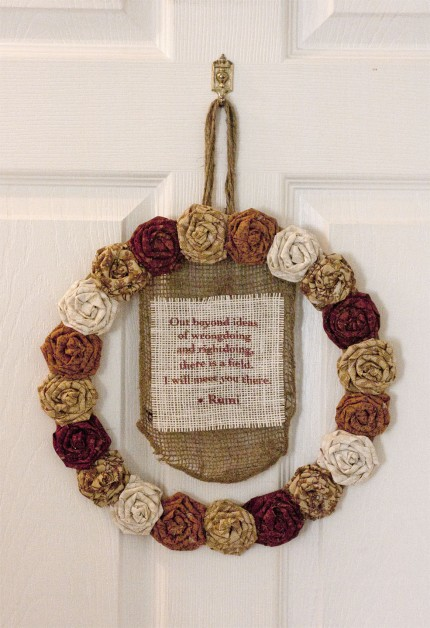 Rosette Quote Wreath