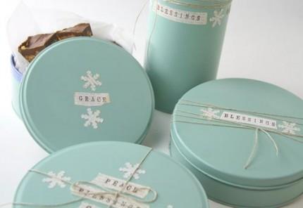 Painted Cookie Tins