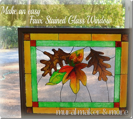 Faux Stained Glass Window Home And Garden