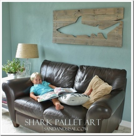 Pallet Shark Wall Art