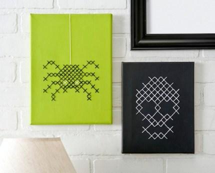 Halloween Cross Stitch Canvas