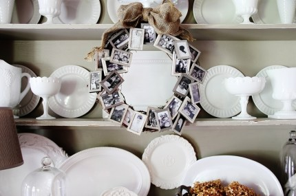 Memory Wreath from Picture Frames