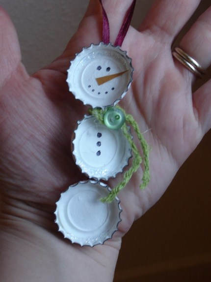 Bottle Cap Snowman
