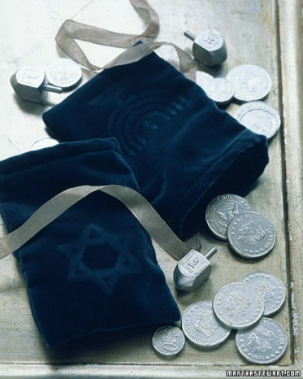 Velvet Gelt Bag for Hanukkah