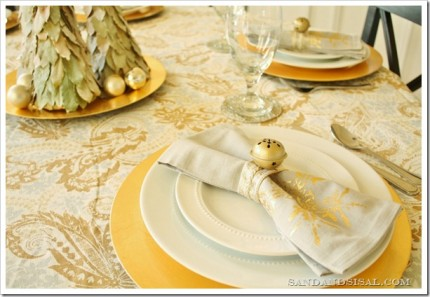 Jingle Bell Adorned Napkin Rings