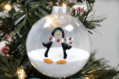 Snow Time Penguin Ornament