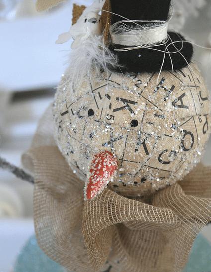 Scrabble Snowman