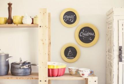 Chalkboard Christmas Plates