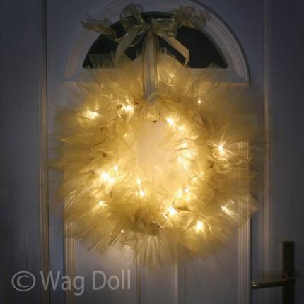 Twinkle Tulle Christmas Wreath