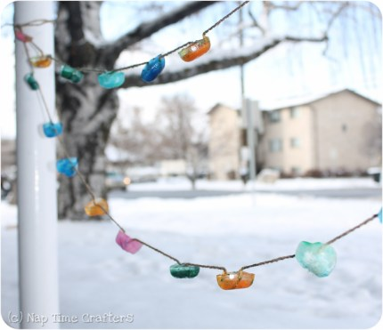 Colorful Ice Garland