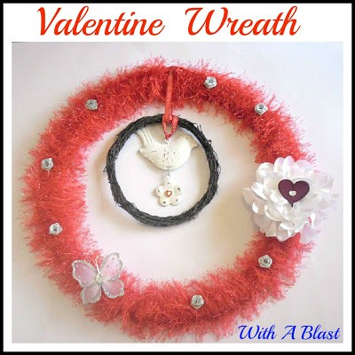 Fuzzy Valentine Wreath